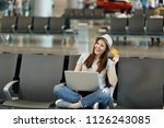 young smiling traveler tourist... | Shutterstock . vector #1126243085