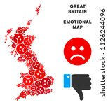 emotional great britain map... | Shutterstock .eps vector #1126244096