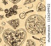decorative seamless pattern... | Shutterstock .eps vector #1126249922