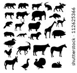 set of animals silhouette.... | Shutterstock . vector #112625366