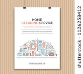 poster design template with... | Shutterstock .eps vector #1126258412