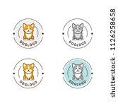 Stock vector dog logo template pet shop logo design 1126258658