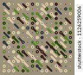 generative random pattern art... | Shutterstock .eps vector #1126259006