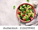 pasta salad with vegetable ... | Shutterstock . vector #1126259402