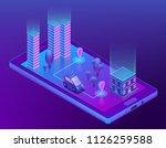 vector 3d isometric concept... | Shutterstock .eps vector #1126259588