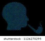 halftone smoking detective... | Shutterstock .eps vector #1126270295