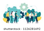 vector illustration  a symbol... | Shutterstock .eps vector #1126281692