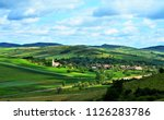 a beautiful rural landscape in...   Shutterstock . vector #1126283786