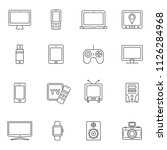 set of digital devices and... | Shutterstock .eps vector #1126284968