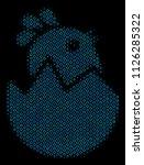 halftone hatch chick mosaic... | Shutterstock .eps vector #1126285322