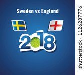 sweden vs england flags soccer... | Shutterstock .eps vector #1126287776