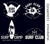 set of vintage surfing graphics ... | Shutterstock .eps vector #1126289252