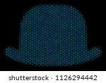 halftone gentleman hat...   Shutterstock .eps vector #1126294442