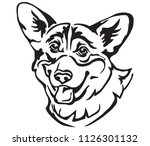 decorative portrait of dog... | Shutterstock .eps vector #1126301132