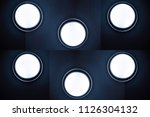 six round wall or ceiling lamps....   Shutterstock . vector #1126304132
