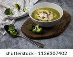 photo of served brocoli creamy... | Shutterstock . vector #1126307402