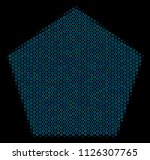 halftone filled pentagon... | Shutterstock .eps vector #1126307765