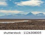 salar de atacama  salt flat ... | Shutterstock . vector #1126308005