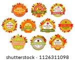 autumn label set of fall nature ... | Shutterstock .eps vector #1126311098