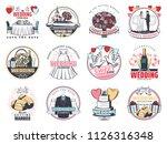 wedding celebration vintage... | Shutterstock .eps vector #1126316348