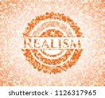 realism orange mosaic emblem... | Shutterstock .eps vector #1126317965