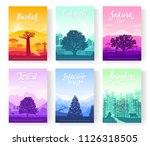 types of trees from around the... | Shutterstock .eps vector #1126318505