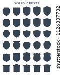 luxury heraldic crests logo... | Shutterstock .eps vector #1126337732