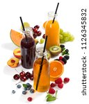 fruits  berries and delicious... | Shutterstock . vector #1126345832