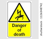 "plate  ""danger of death"". sign  ... 