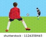 soccer penalty kick | Shutterstock .eps vector #1126358465