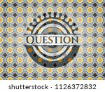 question arabesque emblem.... | Shutterstock .eps vector #1126372832
