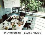 nice creativity office space... | Shutterstock . vector #1126378298