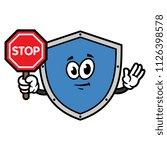 cartoon shield character... | Shutterstock .eps vector #1126398578