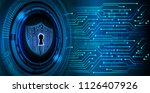 safety concept  closed padlock... | Shutterstock .eps vector #1126407926