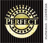perfect golden emblem or badge | Shutterstock .eps vector #1126408166