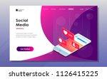 landeng page. social media... | Shutterstock .eps vector #1126415225