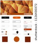 dark orange vector ui ux kit in ...