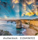 twelve apostles at sunrise ... | Shutterstock . vector #1126436522