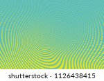 blue yellow halftone dotted... | Shutterstock .eps vector #1126438415