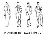 fashion man. set of fashionable ... | Shutterstock .eps vector #1126449572