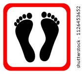 human footprints icon | Shutterstock .eps vector #1126453652