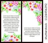 vintage delicate invitation... | Shutterstock . vector #1126456292