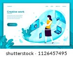 vector concept illustration   ... | Shutterstock .eps vector #1126457495