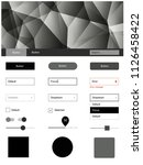 dark gray vector wireframe kit...