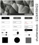 dark gray vector wireframe kit...