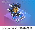 software development and... | Shutterstock .eps vector #1126463792