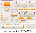 web elements vector design set | Shutterstock .eps vector #112646726