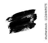 black stain made of brush... | Shutterstock .eps vector #1126469075