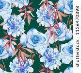 pastel flowers watercolor...   Shutterstock . vector #1126470398