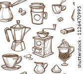 coffee makers vector sketch...   Shutterstock .eps vector #1126470995